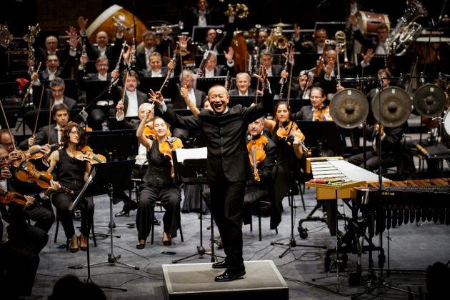 Festival Internazionale di Musica Contemporanea, Venezia 2017. Il momento conclusivo del concerto di Tan Dun. Photo © Andrea Avezzù