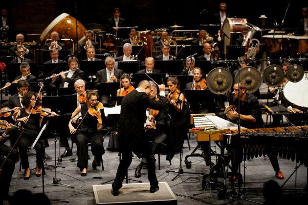 Festival Internazionale di Musica Contemporanea, Venezia 2017. Tan Dun e Simone Rubino. Photo © Andrea Avezzù