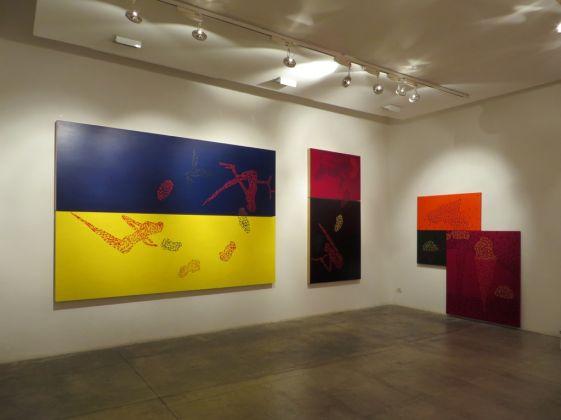 Francesco Candeloro. Pitture (danzanti). Exhibition view at Galleria Studio G7, Bologna 2017
