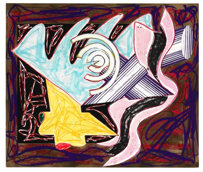 Frank Stella, A Hungry Cat Ate Up the Goat. Illustrations After El Lissitzky's Had Gadya, 1984
