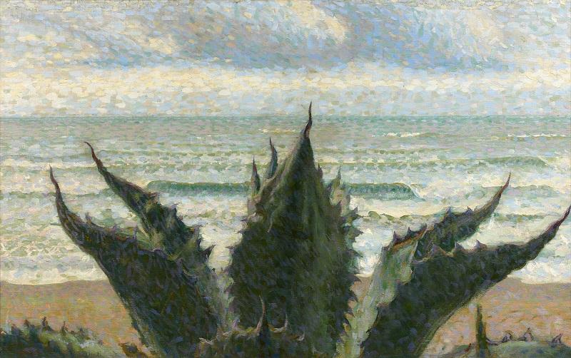 Giacomo Balla, Agave sul mare, 1908
