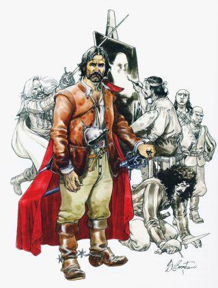 Giampiero Casertano, disegno per Uccidete Caravaggio!