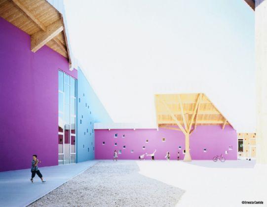 Gianluca Peluffo con 5+1AA, Nuovo complesso scolastico di Centrale–Grumolo Pedemonte, Zugliano, 2015. Photo © Ernesta Caviola