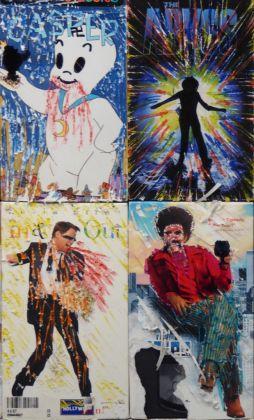 Harmony Korine, VHS Painting (particolare), 2010