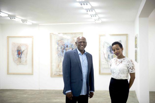 I fondatori di Addis Fine Art. Mesai Haileleul e Rakeb Sile