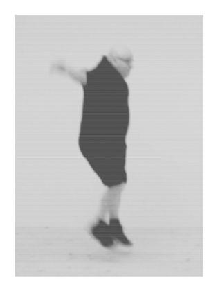 Il mio corpo nel tempo. Urs Lüthi, Selfportrait Big Jump, 2014. Collezione dell'artista