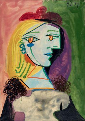 Pablo Picasso Femme au béret rouge à pompom, 1937 Oil on canvas 25 9/16 x 18 1/8 inches 65 x 46 cm © Succession Picasso 2017 PICASSO ADMINISTRATION 8 rue Volney 75002 Paris Courtesy Gagosian