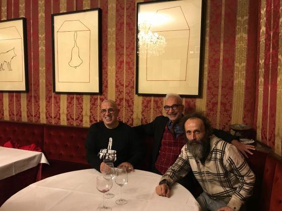 In ostaggio di loro stessi, Franko B., Gianni Colosimo, Cosimo Cavallo, Caffè Fiorio, Torino, photo Claudia Giraud