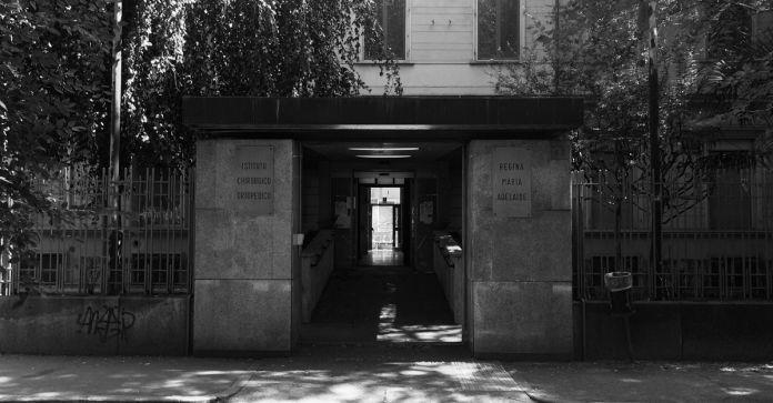 Ingresso dell'Ex Ospedale Regina Maria Adelaide