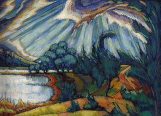 Konrad Mägi, Lago Pühajärv, 1918-20. Museo nazionale d'arte, Estonia