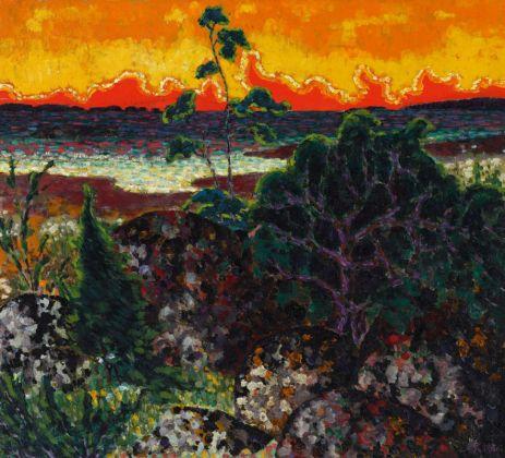 Konrad Mägi, Paesaggio con nuvola rossa, 1913-14. Museo nazionale d'arte, Estonia