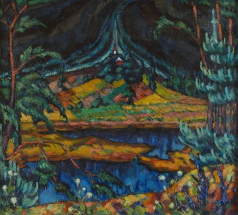 Konrad Mägi, Paesaggio di Otepää, 1918-20. Società degli studenti d'Estonia
