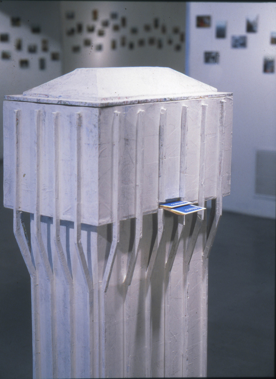 Luca Vitone, Wide City, 1998. Collezione Museo del Novecento, Milano. Veduta della mostra presso Opensace, Milano 1998. Photo Giulio Buono