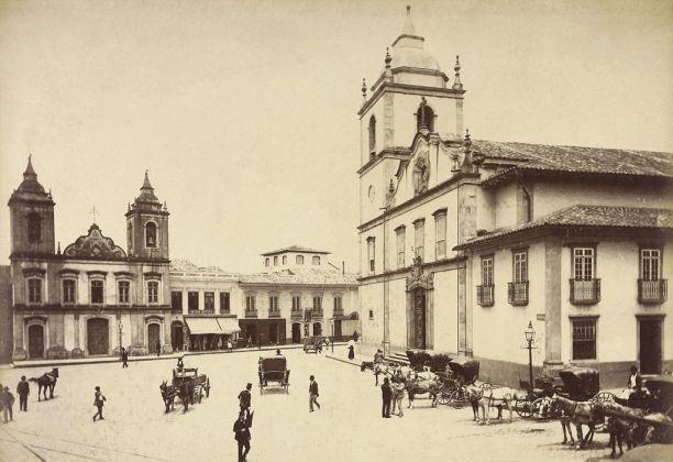 Marc Ferrez, Largo da Sé e as igrejas da Matriz e de São Pedro. São Paulo, 1880