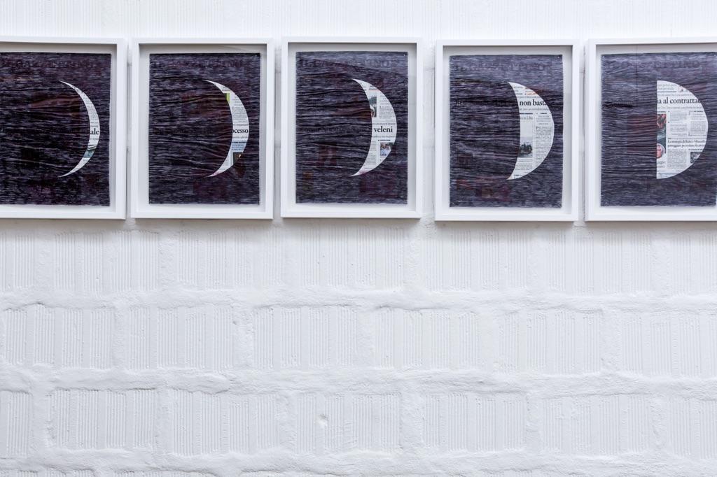 Marco Godinho, Lunar Cycle (9 July – 6 August 2017) (particolare), 2017, photo Nico Covre e Galleria Massimodeluca