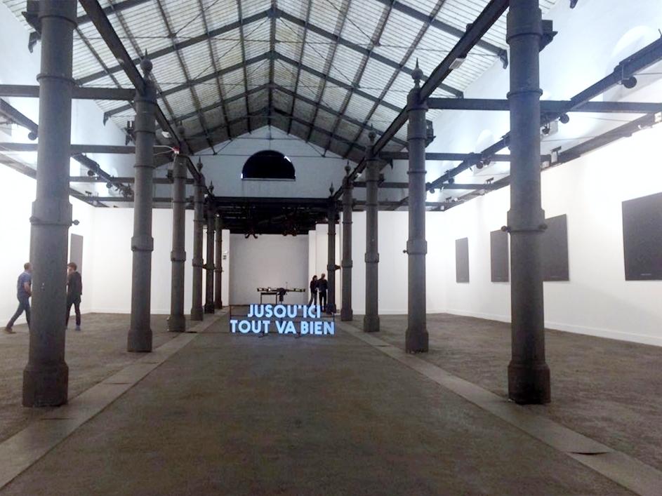 Renaud Auguste-Dormeuil. Jusqu'ici tout va bien. Installation view at MACRO Testaccio, Roma 2017