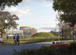 Rendering of The Next Level exterior. Courtesy ARoS Aarhus Art Museum. Major extension with artist James Turrell