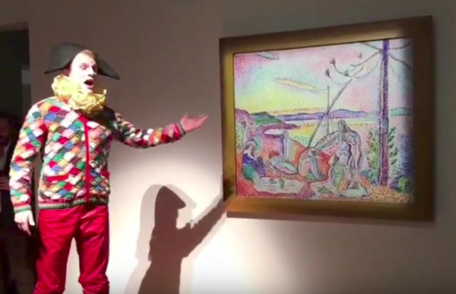Performance di Francesco Vezzoli al Centre Pompidou, Parigi 2017