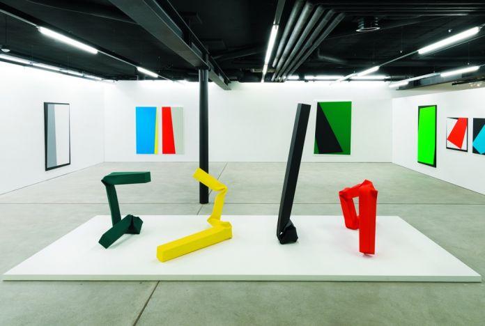 Two Swiss American Artists. Installation view at Spazio -1, Lugano 2017. Photo Studio Pagi