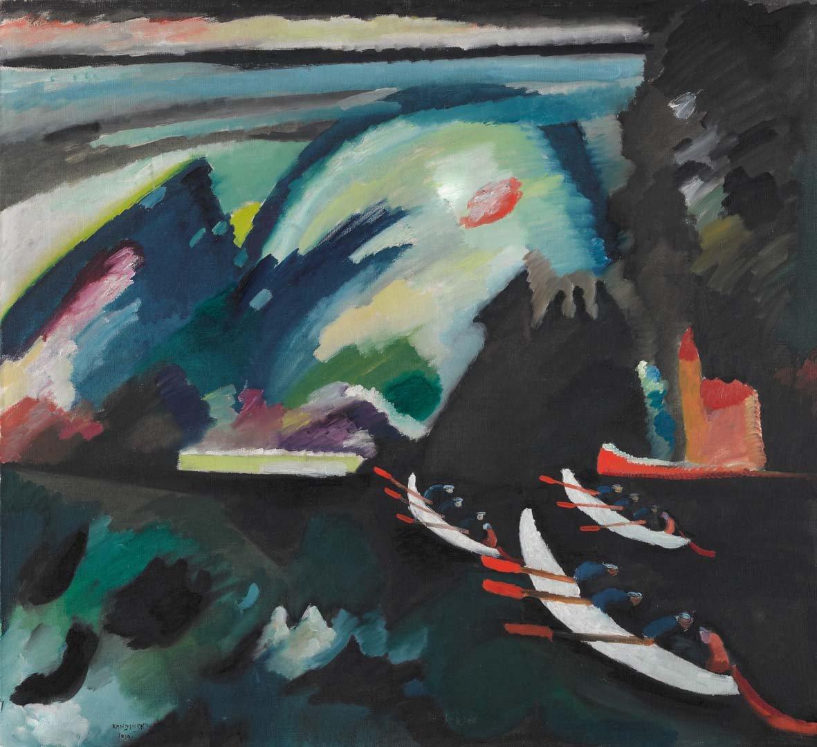 Vasilij Kandinskij Lago. 1910. Olio su tela. 98 x 105. Mosca, Galleria Tret'jakovskaja