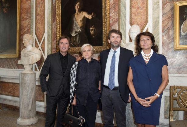 da sinistra, Pietro Beccari, Silvia Venturini Fendi, Dario Franceschini, Anna Coliva