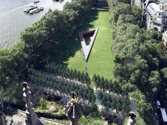 il progetto di heneghan peng per il Memoriale alle vittime dell'Olocausto di Londra