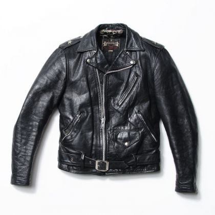 One-Star Perfecto Leather Motorcycle Jacket, late 1950's. Courtesy of Schott NYC