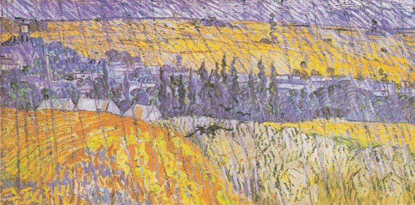 Vincent van Gogh, Paesaggio sotto la pioggia ad Auvers, 1890, olio su tela, cm 50 x 100. Cardiff, Amgueddfa Cymru - National Museum Wales / The Davies Sisters Collection