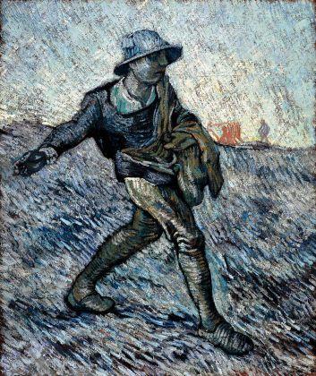 Vincent van Gogh, Il seminatore (da Millet), 1890, olio su tela, cm 64 x 55. Otterlo, Kröller-Müller Museum