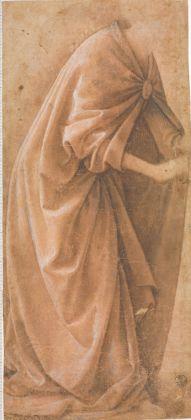 Domenico Ghirlandaio (Domenico Bigordi). Italian, Florence 1448/49–1494 Florence Drapery study of a standing figure