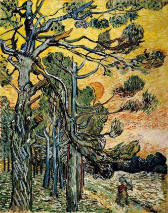 Vincent van Gogh, Pini al tramonto, 1889, olio su tela, cm 91,5 x 72 Otterlo, Kröller-Müller Museum