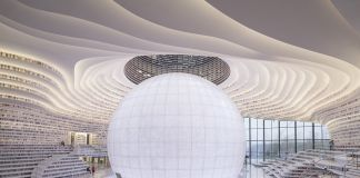 Tianjin Binhai Library. Courtesy Photo Ossip van Duivenbode