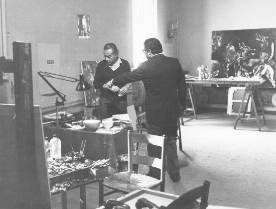 Franco Simongini con Renato Guttuso Incontrati in TV