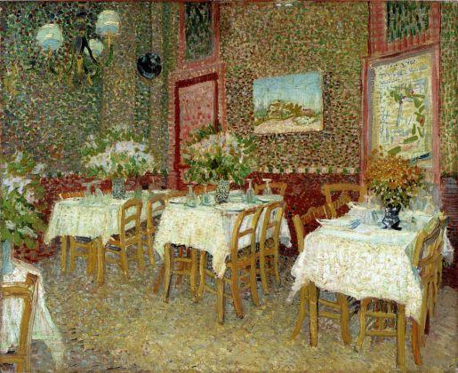 Vincent van Gogh, Interno di un ristorante, 1887, olio su tela, cm 45,5 x 56,5. Otterlo, Kröller-Müller Museum