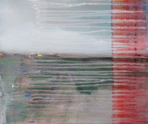 Massimiliano Alioto Ghost town olio su tela