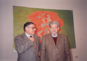 Franco Simongini con Giulio Turcato Incontrati in TV