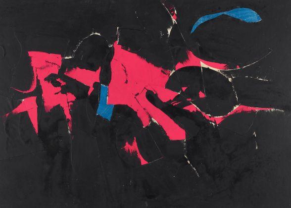 Afro Basaldella, Memorie dell' ignoto, Bozzetto, 1959, Tempera e collage su cartone, 47,4 x 64,8 cm