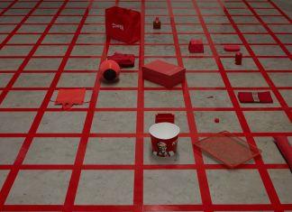 Alison Knowles, Homage to Each Red Thing, 1996. Courtesy Alison Knowles & James Fuentes, New York & Pirelli HangarBicocca, Milano. Photo Agostino Osio