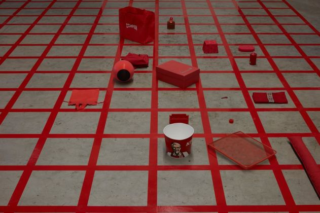 Alison Knowles, Homage to Each Red Thing, 1996. Courtesy Alison Knowles & James Fuentes, New York & Pirelli HangarBicocca, Milano. Photo Agostino Osio