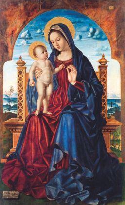 Antonello De Saliba, Madonna in trono con il Bambino, 1497. Catania, Castello Ursino