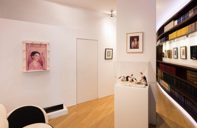 Beatrice Marchi. Ruffiana la Mafalda e La Loredana del villaggio. Exhibition view at Studio Iannaccone, Milano 2017