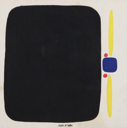 Bruno Munari, Composizione, 1950, tempera su carta, cm 18 x 18
