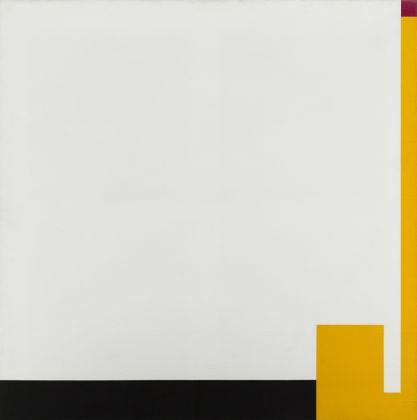 Bruno Munari, Negativo Positivo, 1953 1980, olio su tela, cm 100 x 100