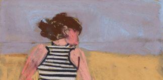 Chantal Joffe, Esme in a Striped Dress, pastel on paper, 2016