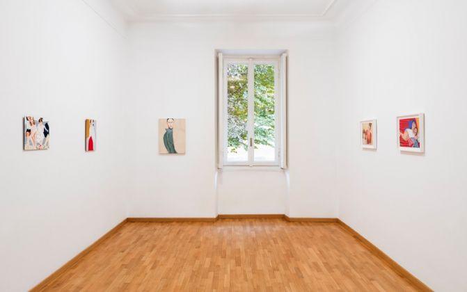 Chantal Joffe. Installation view at Galleria Monica De Cardenas, Milano 2017. Photo Andrea Rossetti. Courtesy Galleria Monica De Cardenas, Milano