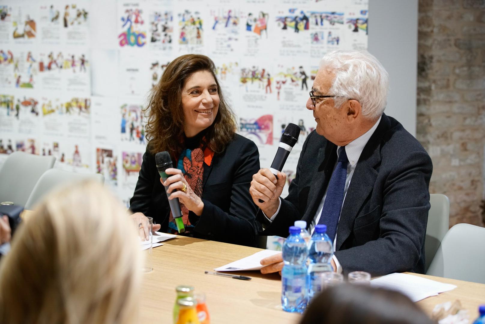 Christine Macel e Paolo Baratta. Photo by Andrea Avezzu' - Courtesy of La Biennale di Venezia