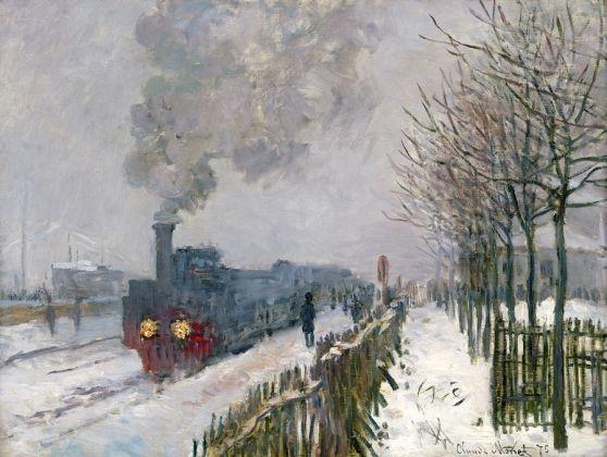 Claude Monet, Il treno nella neve. La locomotiva, 1875 Parigi, Musée Marmottan Monet © Musée Marmottan Monet, paris c Bridgeman Giraudon presse