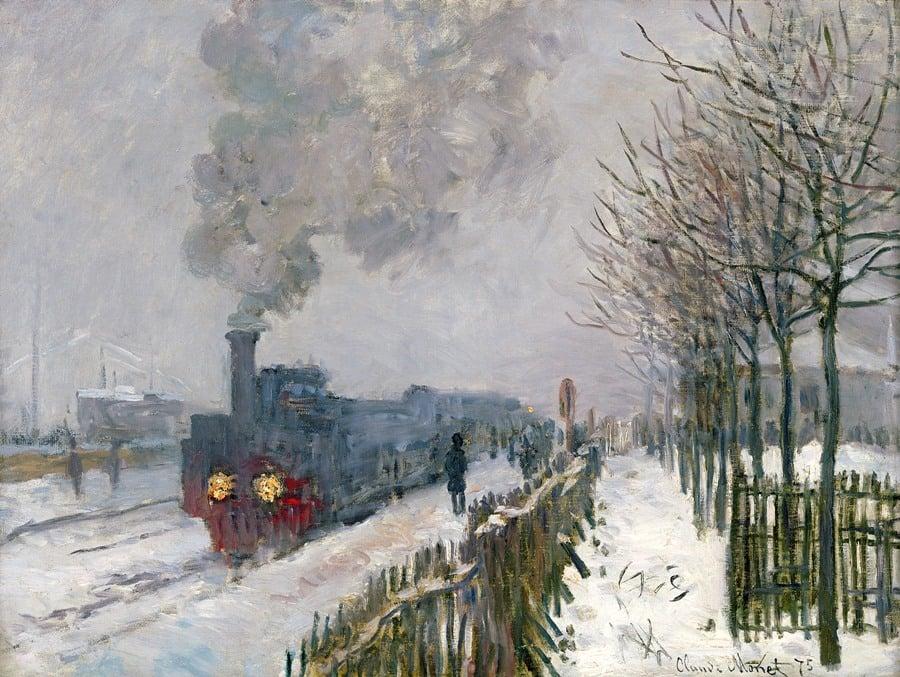 Claude Monet, Il treno nella neve. La locomotiva, 1875 Parigi ...