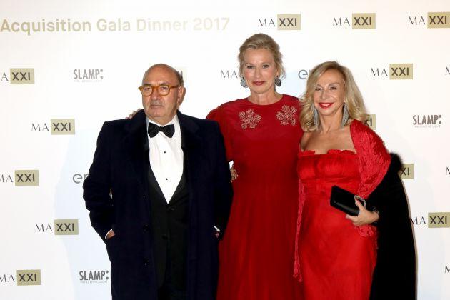 Dante Ferretti, Giovanna Melandri and a Francesca Lo Schiavo (Photo by Elisabetta Villa/Getty Images)