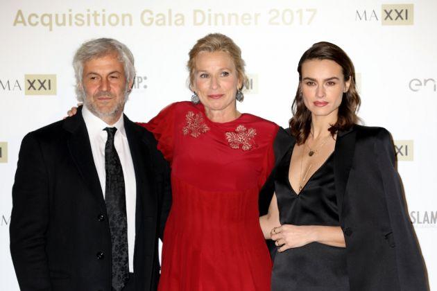 Domenico Procacci, Giovanna Melandri, Kasia Smutniak (Photo by Elisabetta Villa/Getty Images)